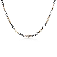Pearl & Diamond Spectacle Set Chain