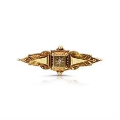 Intricate Victorian Diamond Set Bar Brooch