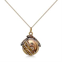 Victorian Platinum & Gold Diamond Set Locket