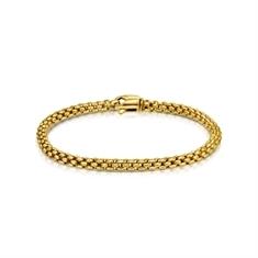 Yellow Gold Brick Linked Bracelet