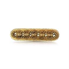 Filigree Gold Victorian Bar Brooch