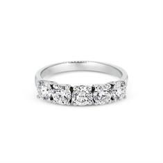 Five Stone Brilliant Cut Claw Set Half Eternity Ring
