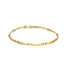 Gold bar Linked Bracelet