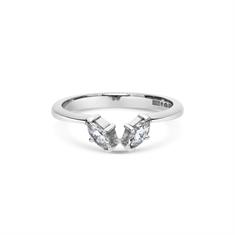 Two Stone Marquise Cut Diamond Wedding Band