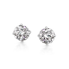 2.02ct Brilliant Cut Diamond Claw Set Ear Studs