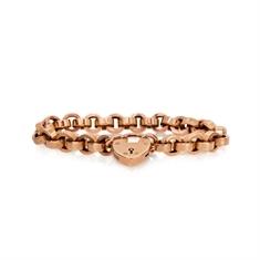 Victorian Heavy Belcher Chain Bracelet With Heart Locket