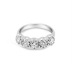 Five Stone Brilliant Cut Scalloped Claw Ring