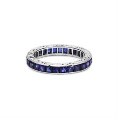 Carre Cut Sapphire Channel Set Full Eternity Ring