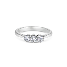 Brilliant Cut Diamond Three Stone Ring 0.65ct