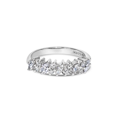 Marquise Cut Diamond Claw Set Half Eternity Ring