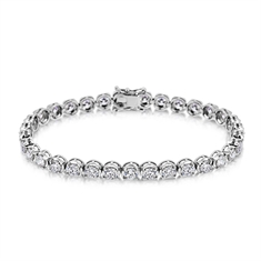 9.54ct Brilliant Cut Diamond Tennis Bracelet