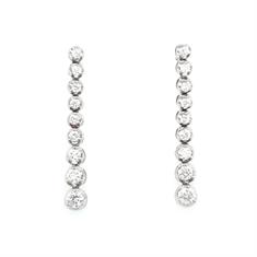 Brilliant Cut Diamond Drop Earrings 1.47ct