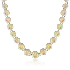 Opal & Crystal Bead Necklace
