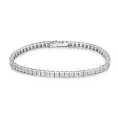 Princess Cut Diamond Channel Set Line Bracelet