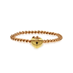 Victorian Curb Linked Bracelet With Heart Shaped Padlock
