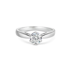 Brilliant Cut Six Claw Diamond Set Solitaire Engagement Ring