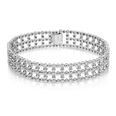 Brilliant Cut Diamond Cuff Bracelet