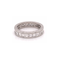 Carre Cut Channel Set Full Eternity Ring