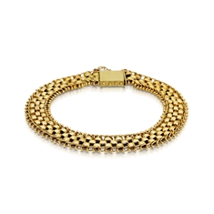 15ct Yellow Gold Triple Linked Bracelet