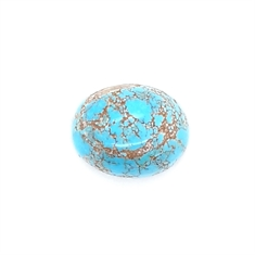 Turquoise Oval Cabochon Loose Gemstone 16 x 13 14.68ct