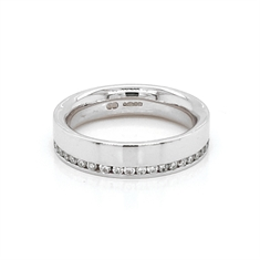 Diamond Off Centre Channel Set Full Eternity Ring