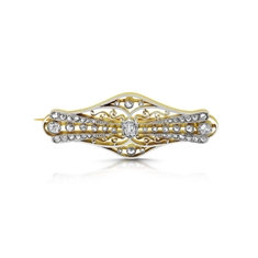 Edwardian Old Cut Diamond Set Brooch