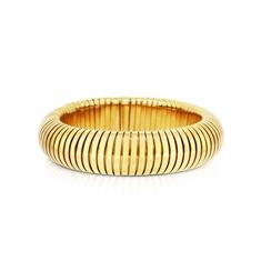 18ct Yellow Gold Flexible Cuff Bracelet