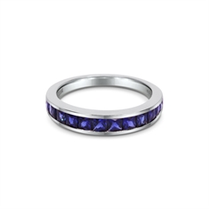 Sapphire French Cut Channel Set Infinity Ring