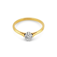Brilliant Cut Diamond Single Stone With Tiffany Style Band