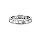 Vintage Baguette Cut Diamond Channel Set Full Eternity Ring
