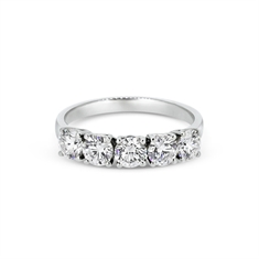 Five Stone Brilliant Cut Claw Set Half Eternity Ring