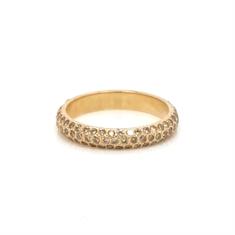 Pavé Set Cognac Diamond Full Eternity Ring