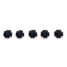 Carved Drilled Onyx Fancy Shape Black 8 x 8mm