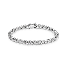 7.45ct Brilliant Cut Diamond Claw Set Line Bracelet