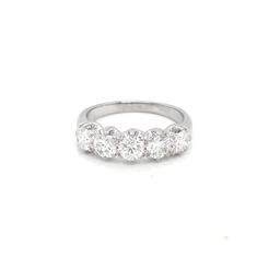 Diamond Five Stone Half Eternity Ring 1.25ct
