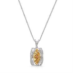 Fancy Yellow Diamond Pendant With Graduated Bail