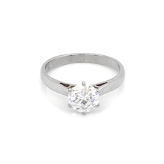 Six Claw Diamond Solitaire Engagement Ring 1.00ct