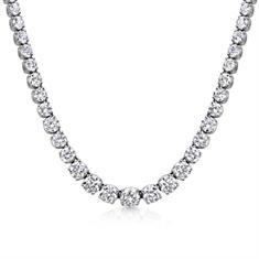 Brilliant Cut Diamond Line Necklace 12.07ct
