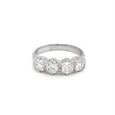 Four Stone Brilliant Cut Diamond Half Eternity Ring 1.60ct