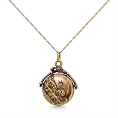 Victorian Platinum & Gold Diamond Set Locket