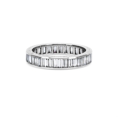 Vintage Full Eternity Ring Baguette Cut Channel Set