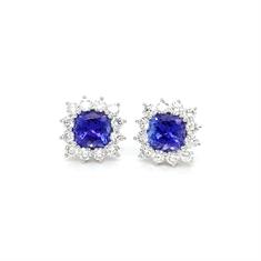 Tanzanite Diamond Earrings 3.71ct