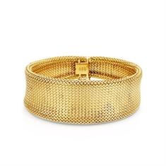 Gold Mesh Wide Bracelet