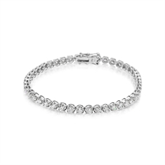 5.53ct Brilliant Cut Diamond Line Bracelet