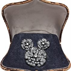 Victorian Silver & Gold Brooch & Earrings