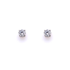 Claw Set Brilliant Cut Diamond Stud Earrings 0.60ct Approx