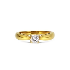 Van Cleef & Arpels Claw Set Princess Cut Diamond Engagement Ring