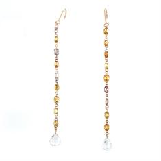 Natural Fancy Yellow Diamond Drop Earrings 3ct Approx