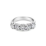 Brilliant Cut Diamond Five Stone Bulge Claw Ring