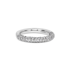 4 Row Brilliant Cut Diamond Half Eternity Ring